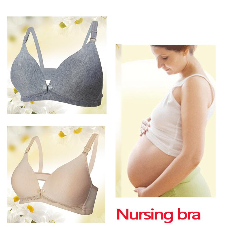 109dee92d0a 2019 Wholesale Maternity Underwear Thin Breast Feeding Bra Without Underwire  Front Button Breast Feeding Bra Large Size From Farmers001