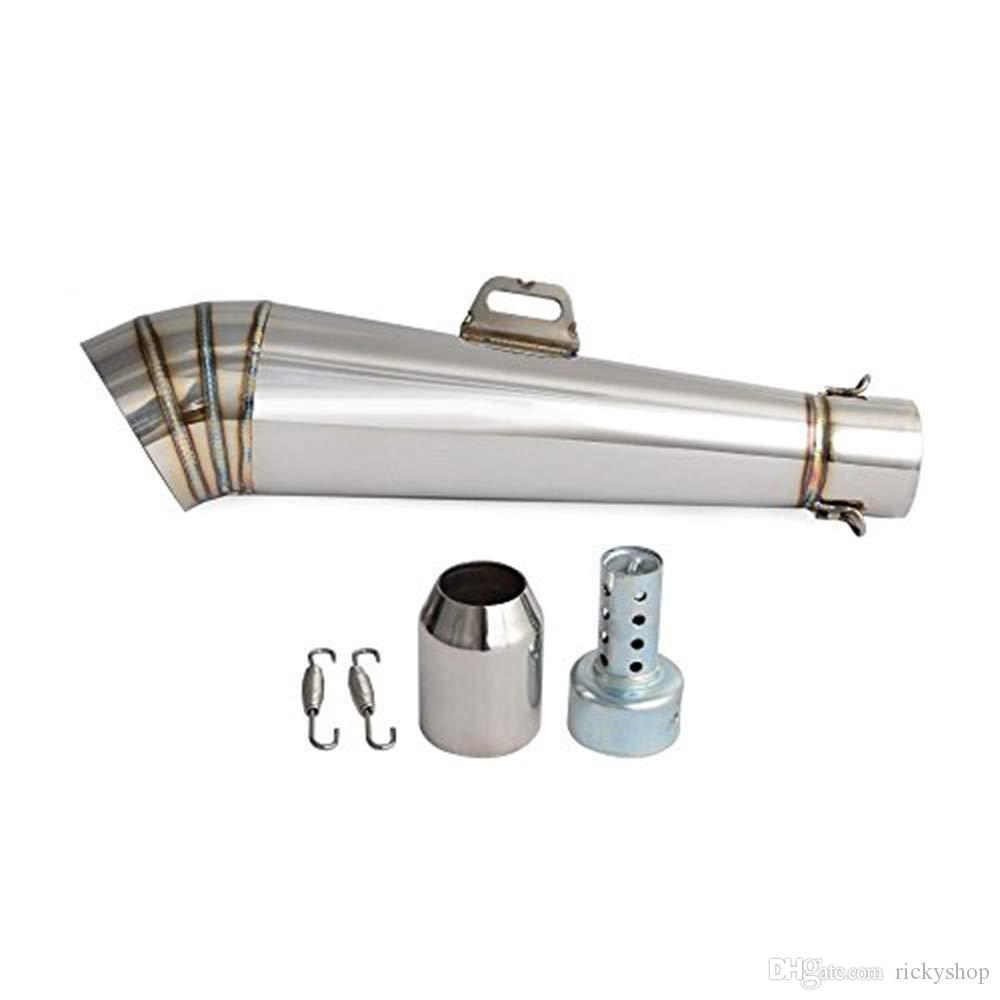Motorcycle Stainless Steel GP Exhaust Muffler Pipe Slip-On 38-51mm w/DB Killer