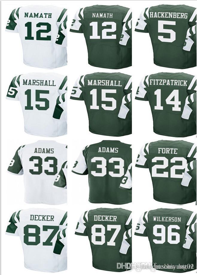Wholesale 2018 Men'S New York Jets #5 Christian Hackenberg 12 Joe Namath 14