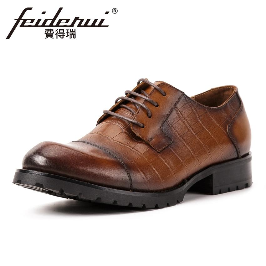 3bf174b348383 New Fashion Genuine Leather Men s Handmade Business Footwear Round ...