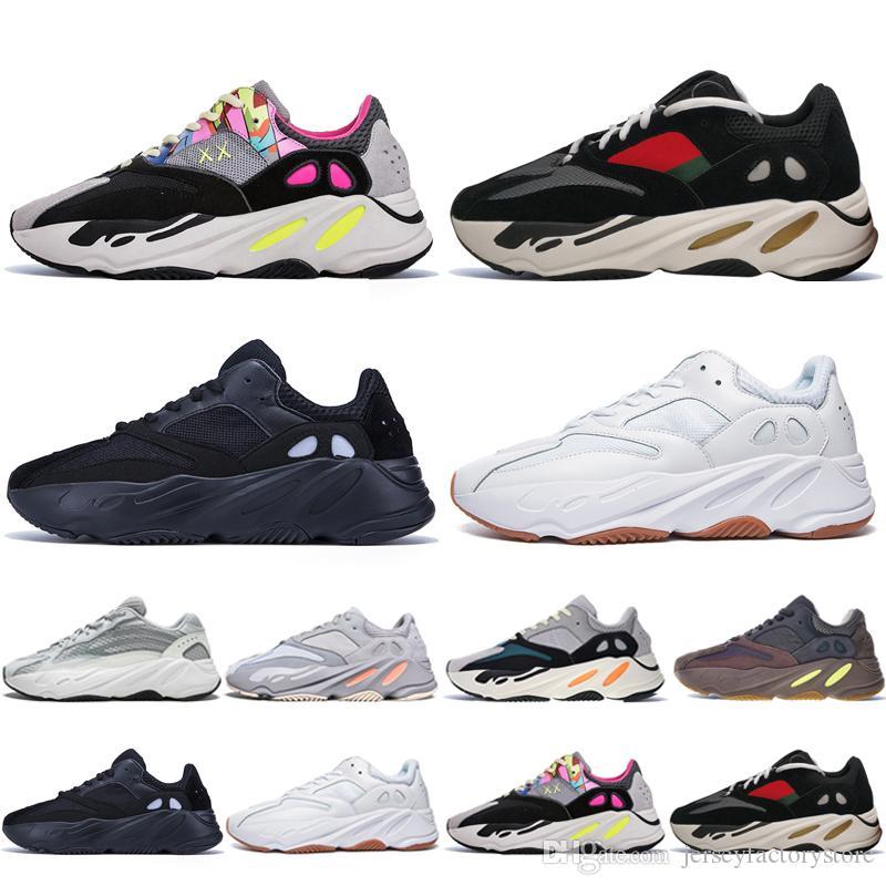 cc065918db9f2 Best Quality Kanye West 700 V2 Static 3M Mauve Inertia 700s Wave Runner  Mens Running Shoes For Men Women Sports Sneakers Designer Eur 36 46 Top  Running ...