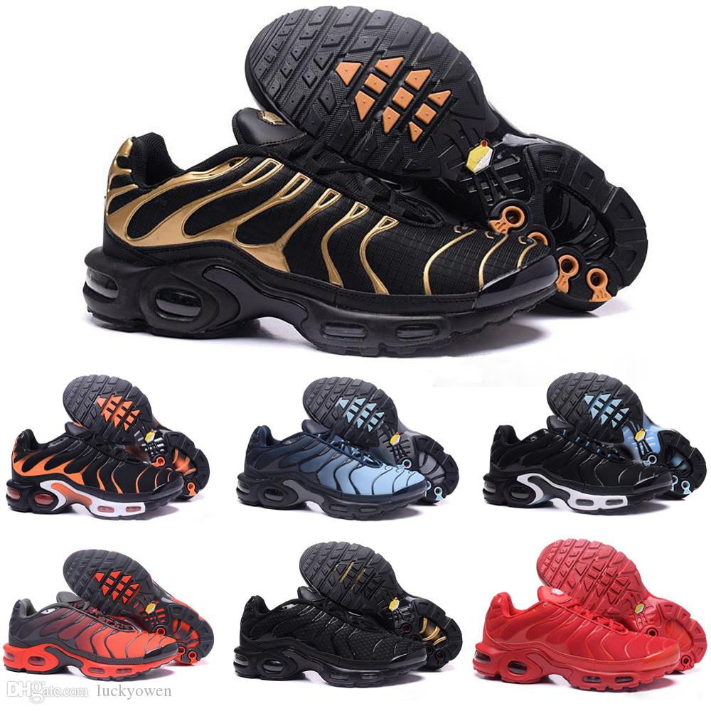 low priced b93ea b4610 Compre Nike TN Plus Air Max Airmax 2019 Nuevo Diseño De Calidad Superior TN Hombre  ShOes Malla Transpirable Chaussures Homme Tn REqUin Noir Casual Running ...