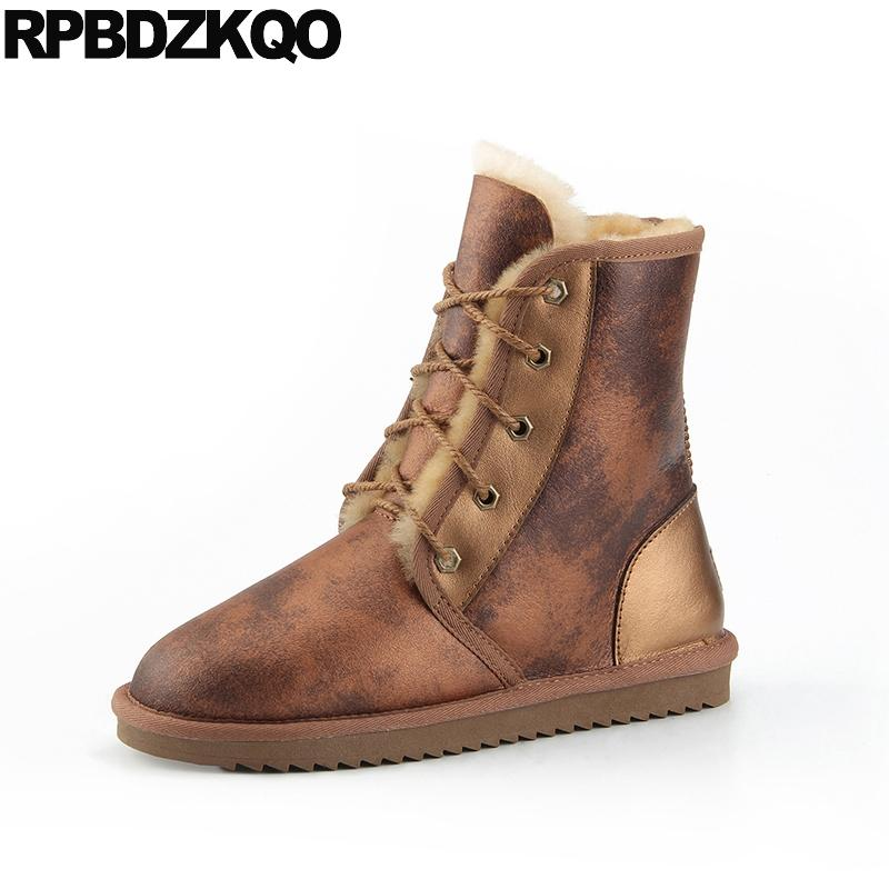 460680e60ad luxury snow fur lined shoes sheepskin winter ankle men real leather  australian boots plus size suede high quality waterproof