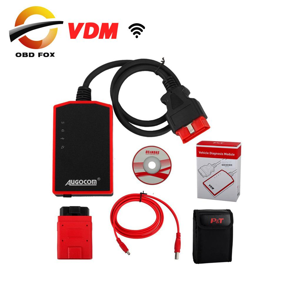 100% Original OBDII Vehicle Diagnostic UCANDAS VDM Auto Diagnosis System online update with WIFI same function as Diagun