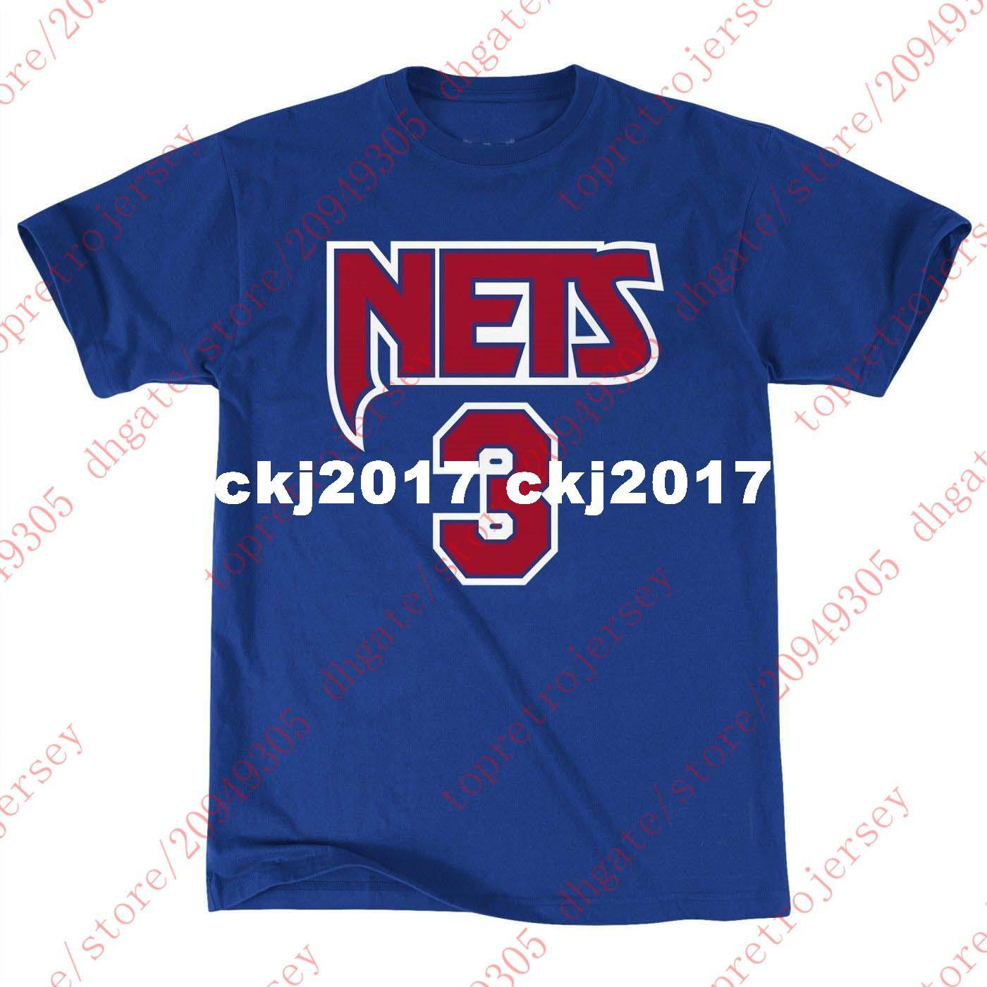new style d011b 267d8 Cheap Custom #3 Drazen Petrovic Mitchell & Ness Top Men s Player S/S  T-Shirt Mens stitched Summer Tee basketball jerseys Ncaa