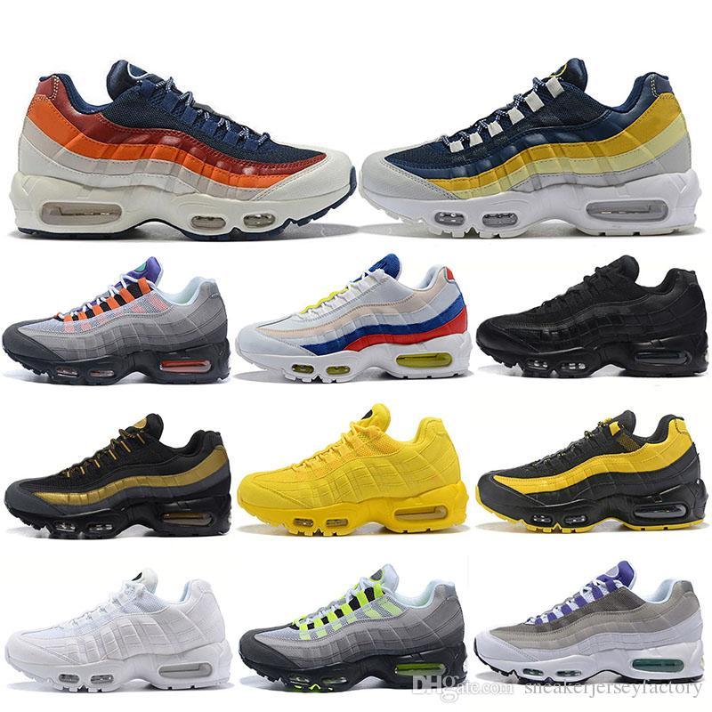 new product 84b40 47274 Nike Air Max 95 Roshe Run Vm Vapormax Brand Classic 95 Zapatillas De Running  OG Ultra 20th Anniversary Men Womens Sports Zapato Triple Blanco Negro ...