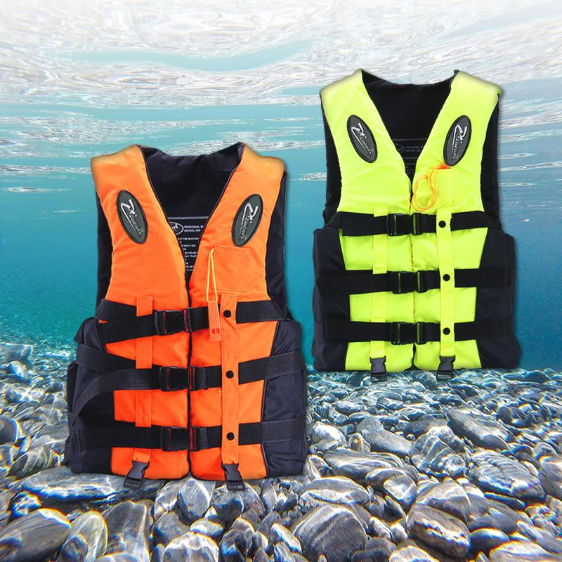 2019 Newest Polyester Adult kids Life Vest Jacket Swimming Boating Ski Drifting Life Vest with Whistle Water Sports Man Jacket
