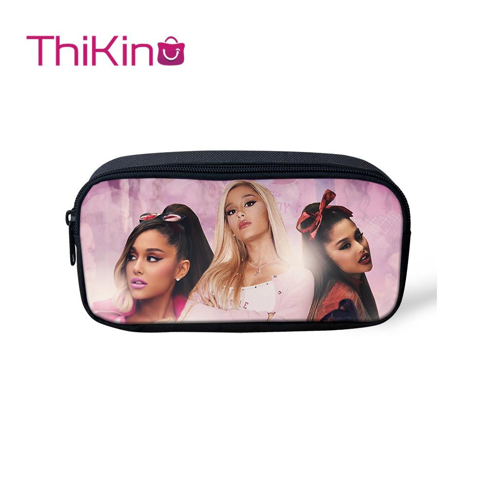 Thikin Ariana Grande Casual Pencil Bags Pen Bag for Girls Pen Case Student Makeup Storage HandBags Purses for Kids