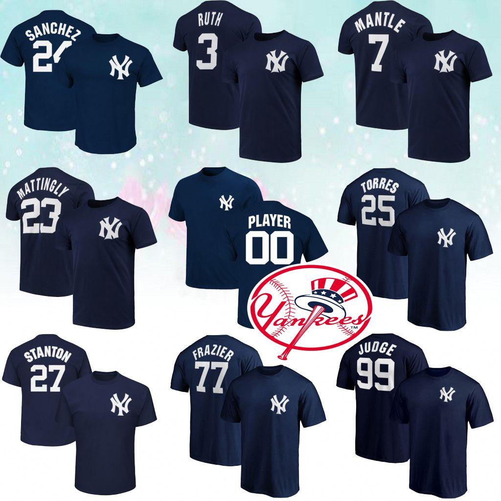 separation shoes 6da40 29334 99 Aaron Judge New York T-shirt Yankees 25 Torres 2 Jeter 27 GS 24 Sanchez  T-shirt 3 Ruth 7 Mantle Best selling T-shirt