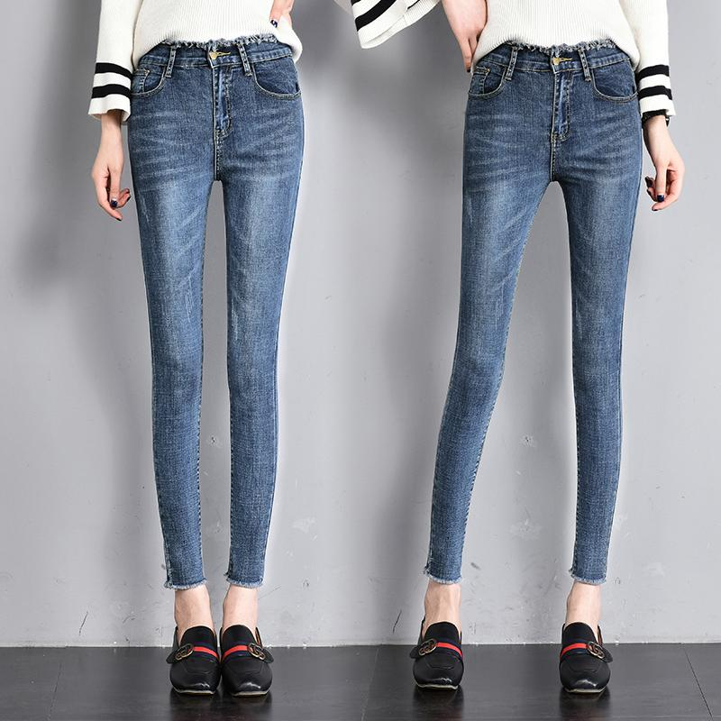 3a0ff09bc7da 2019 2019 Spring Summer Women Jeans Skinny Denim Pants Female Vintage Sexy  Slim Casual Burr Elastic Stretch Demin Pencil Pant Trouser From  Insightlook