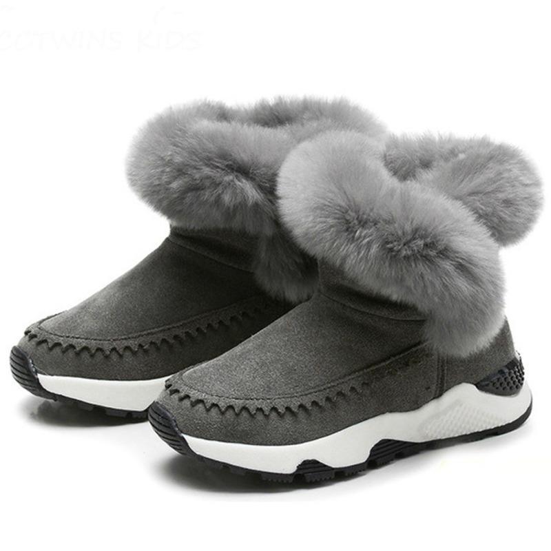 1a2aae4cc42a27 Großhandel Winterstiefel Kinder 2018 Neue Ankunft Warme Schuhe Mode Winter  Plüsch Stiefel Jungen Und Mädchen Schneeschuhe Größe   28 36 Von  Caishen018