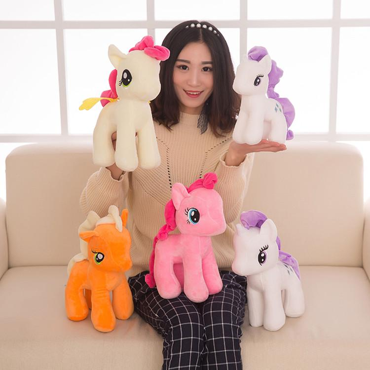 new 25cm Cartoon Unicorn Plush Doll Kids Rainbow Little Horses Soft Stuffed Animal Toy Unicorn Doll Party Supplies T2G5045