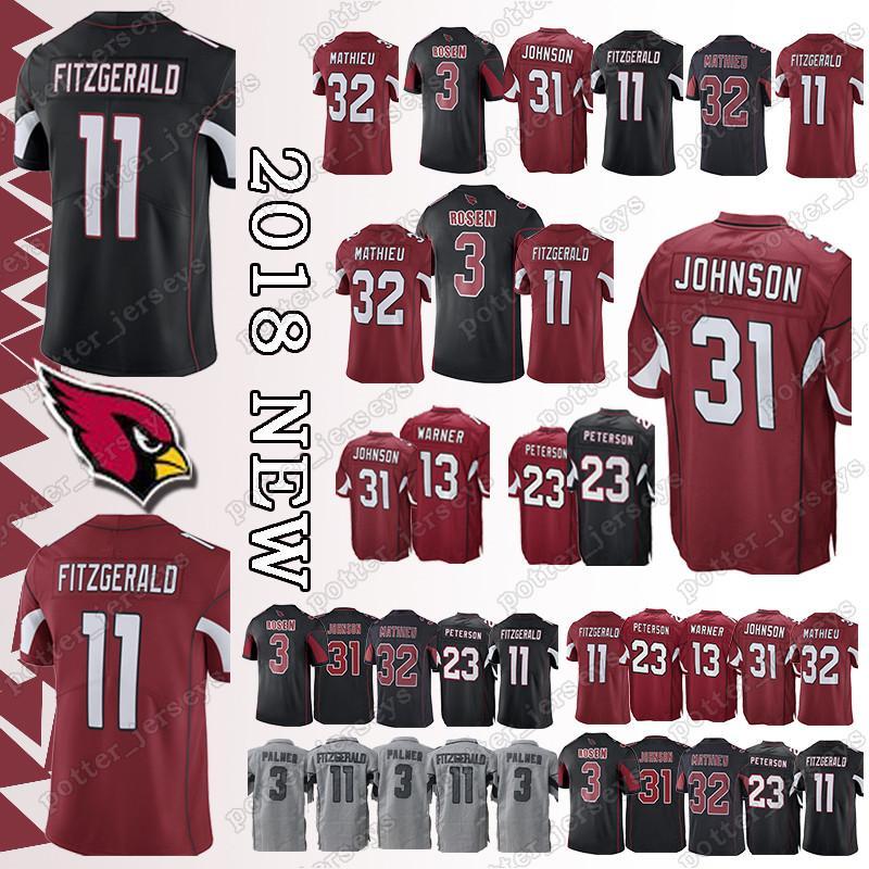 2019 Cheap Sales Arizona Cardinal 11 Larry Fitzgerald Jerseys 23 Adrian  Peterson 31 David Johnson 32 Tyrann Mathieu Jersey Top Quality Promotion  From ... b4add6204