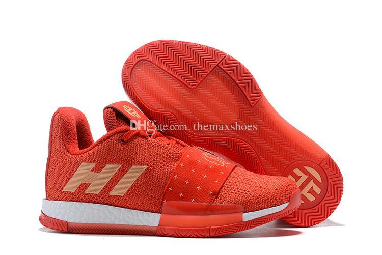 f7cc27688dce Newst Mens Harden Vol. 3 MVP Basketball Shoes Weaving Sneakers Men Red Grey  Black James Harden 3s Outdoor Trainers Sports Shoes 7 11.5 Cheap Shoes 4e  ...