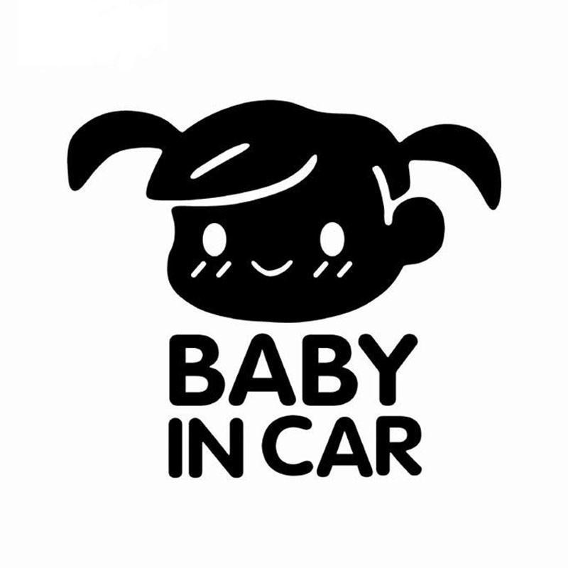 11*13cm BABY IN CAR Stickers and Decals Motorcycle Car Accessory full-body Home wall decals Motorcycle sticker 0272