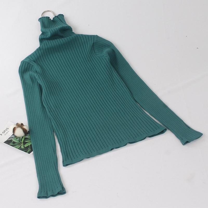 GIGOGOU Basic Ribbed Turtleneck Women Sweater High Neck Knitted Sweater Pullovers With Thumb Hole Fall Autumn Winter Jumper Top T190907