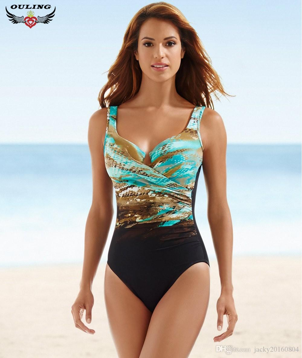 2018 Womens Sexy Backless Striped Twist Front Crossed Tankini Halter Swimsuit Retro Bathing Suits Plus Size Bathing Suit 5xl Bikinis Set