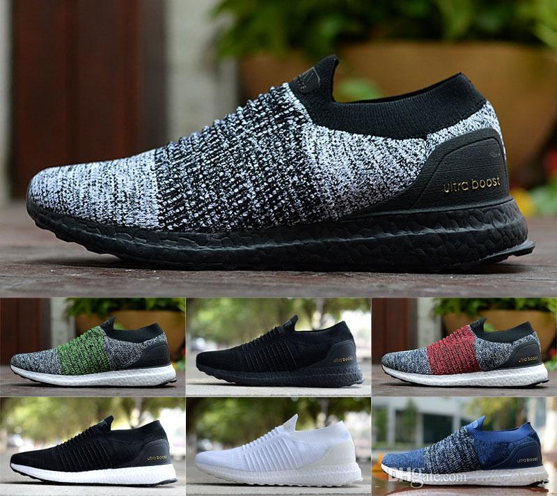 0201a1b43f2 2019 Ultra Boosts Laceless Trainers Sneakers Ultraboost 4.0 5.0 Mens Women  Running Shoes Outdoor Designer Shoes Top Running Shoes Running Shoes Online  From ...