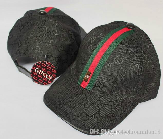 4d292f1af 2018 New Brand Mens Designer Hats Adjustable Baseball Caps Luxury ...