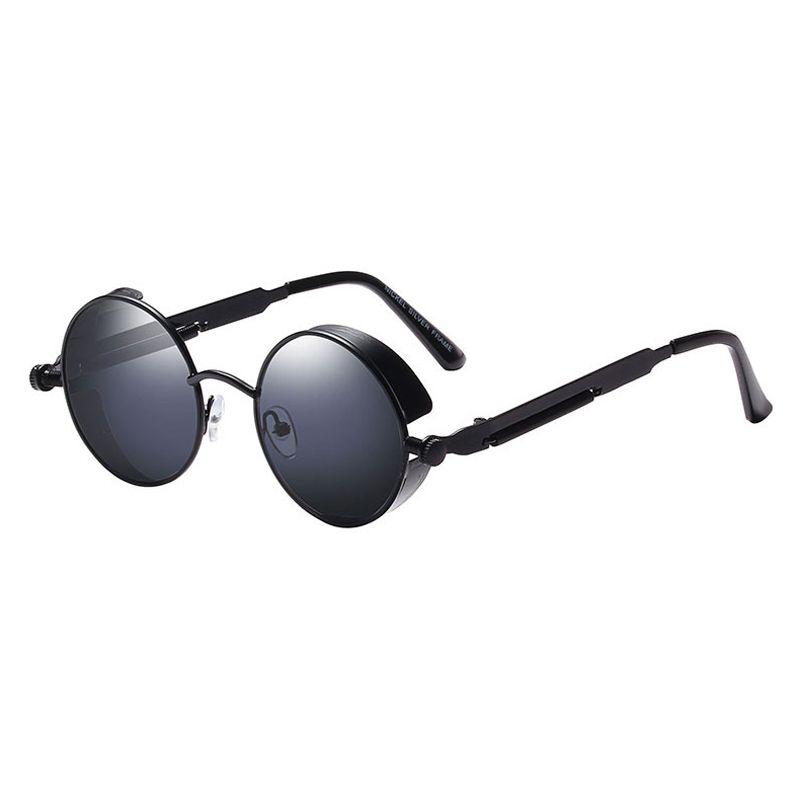 11874431340 2019 Fashion Metal Round Steampunk Sunglasses Men Women Glasses Brand  Designer Retro Frame Vintage Sunglasses High Quality UV400 Mirrored  Sunglasses Heart ...