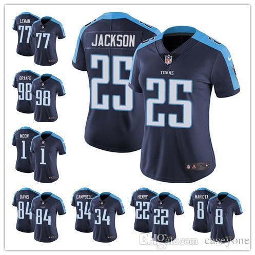 a85f24927 2019 Custom Tennessee Jersey Titans 22 Derrick Henry 77 Taylor Lewan 31  Kevin Byard 84 Corey Davis 82 Delanie Walker Football Jersey From  Double_angel, ...