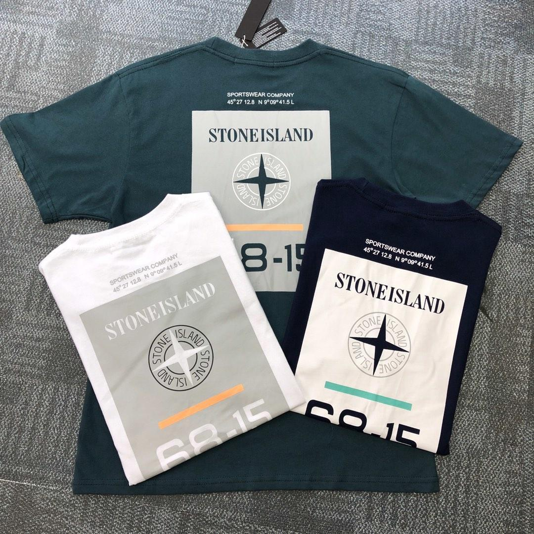 2019 Stone islands brand tshirt OFF Luxury New Fashion Designer Clothes  Europe Italy Dapper Dan Tshirt Men Women T Shirt Casual Cotton Tee
