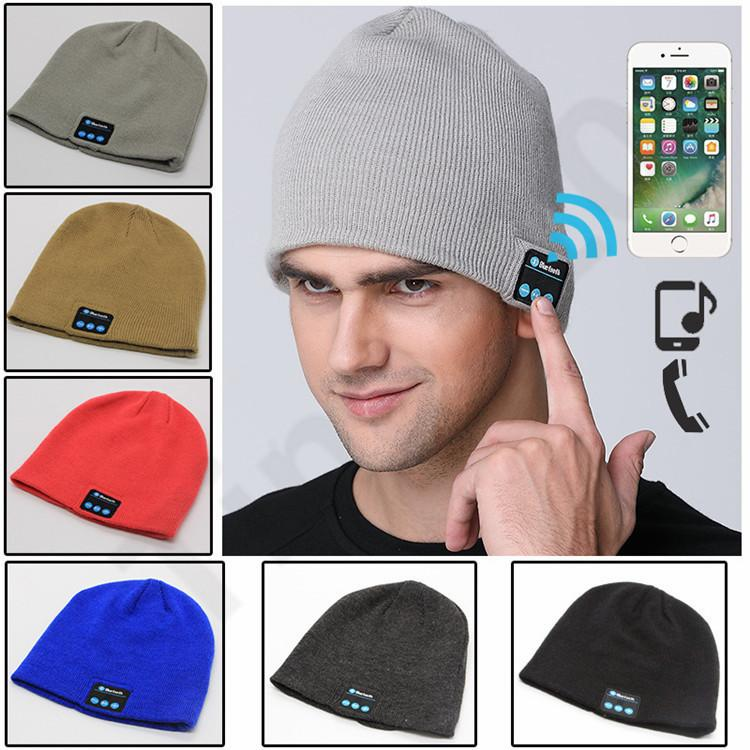 New Men Women Beanie Bluetooth Hat Call Music Stereo Warm Hat Cool Knit  Bluetooth Headset Fashion Cap T1I1137 Beanie Hats For Men Black Beanie From  Andyt168 ... a84c376e2467