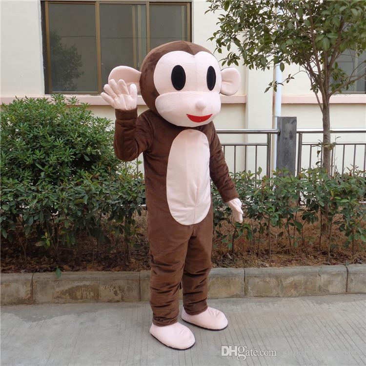 Jumping Monkey Mascot Costumes Cartoon Fancy Suit for Adult Animal Theme Mascotte Carnival Costume Halloween Fancy Dress