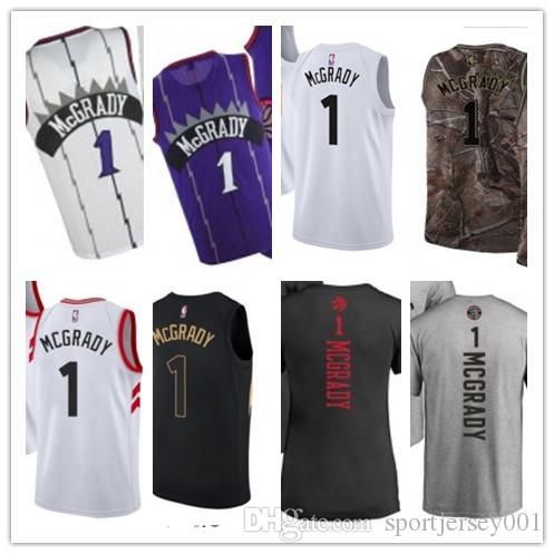 super popular 67db0 51fe7 custom 2019 Toronto Raptor Jerseys #1 Mcgrady Jerseys men#WOMEN#YOUTH#Men's  Baseball Jersey Majestic basketball jersey