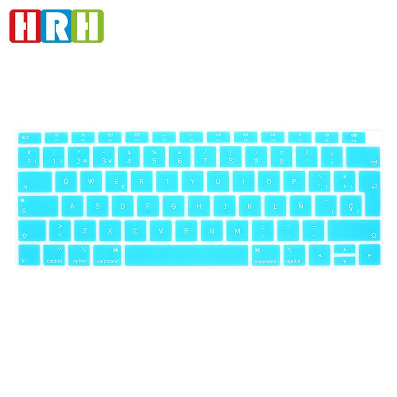 6b6259184ba HRH Hot Sale Spanish Letter UK/EU Silicone Soft Keyboard Cover Skin  Protective Film For MacBook Air 13 Newest 2018 Released A1932 Laptop Keyboard  Skin ...