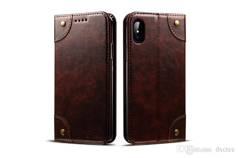 High Quality Vegan Flip Leather Wallet Pouch Clutch Cover Folio Card Slot Kickstand Holster Phone Shell for iPhone XS Max XR 6s 7