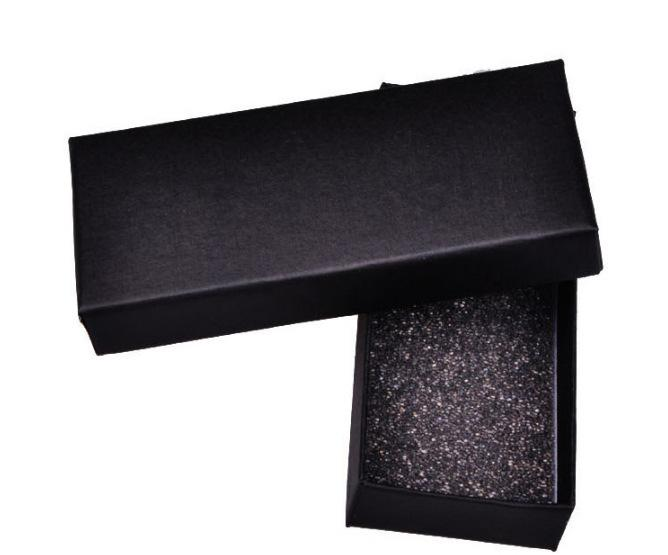 Black cardboard packaging gift box personalized key ring universal packaging with sponge