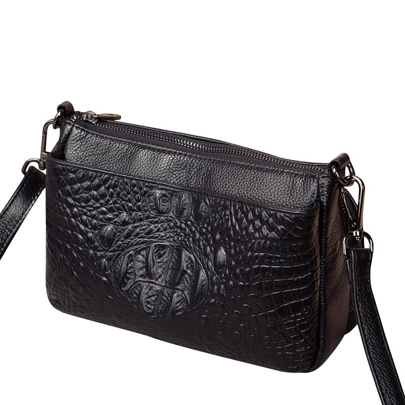 Fashion Genuine Leather Crocodile Pattern Women Shoulder Crossbody ... 1fdba81417