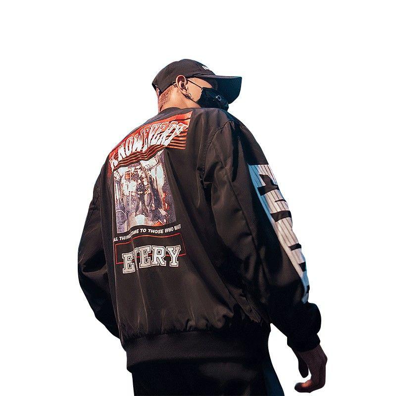 Compre Bormandick Para Hombre Chaquetas Estilo Hip Hop Chaqueta Juku Piloto  Calle Impresión Chaquetas Hombres Mujeres Abrigo Marca KXP18 CJ08 65 A   51.66 ... 418eb5c51ee