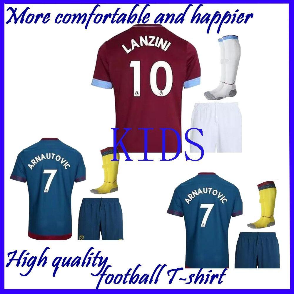 cheaper 99926 70835 IN stock Kids kits 2018 2019 West Ham United home away kids jersey 18 19  CHICHARITO Football jerseys CARROLL SAKHO AYEW soccer shirt