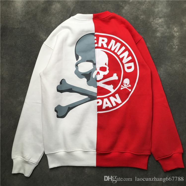 3fcda7daba7 Best Quality Version Mastermind Japan MMJ Skull Printed Women Men Hoodies  Pullover Hiphop Brand Men Black Red Splice Casual Sweatshirts MMJ Mastermind  ...