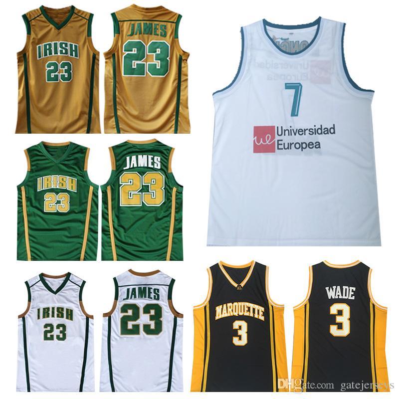 official photos bea49 b69a6 NCAA LeBron 23 James 2019 Herren-Jugend-LeBron-Trikot Luka Dwyane 3 Wade 77  Doncic Genähte Basketball-Trikots