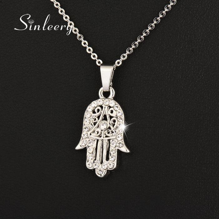 Хороший классический рука Фатима Хамса ожерелье подвески розовое золото цвет цепи ладони заявление ювелирные изделия для женщин XL681 SSB