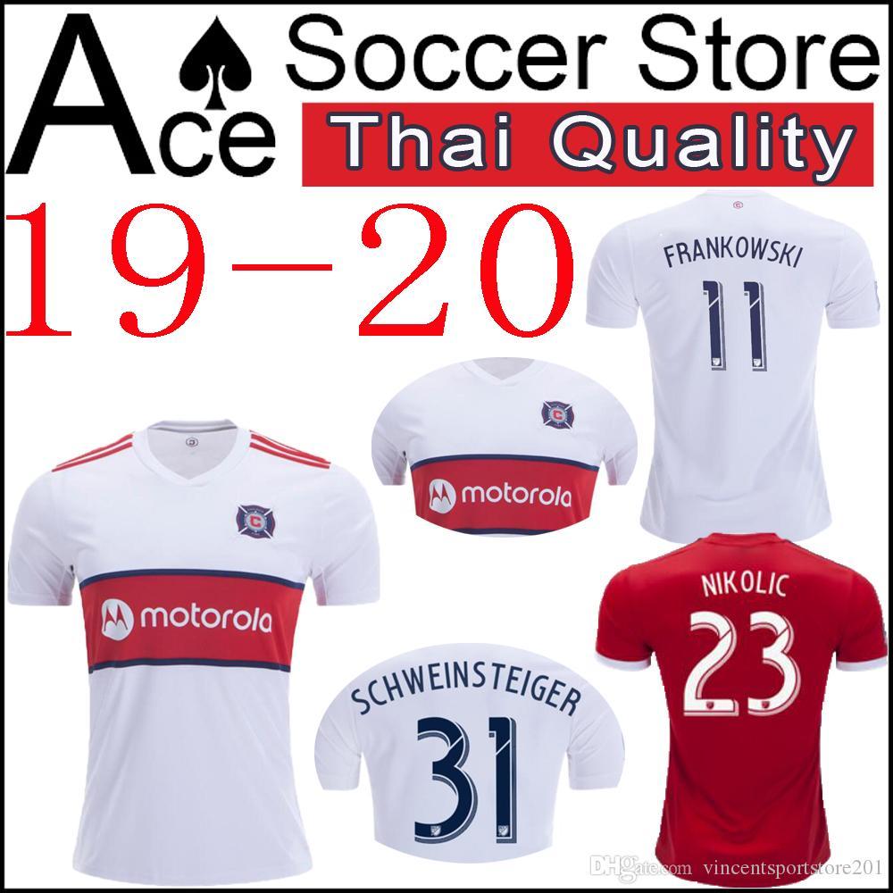brand new 6b15f cc484 new Chicago soccer Jersey Fire 19 20 Home white away red McCARTY FRANKOWSKI  MIHAILOVIC NICOGAITAN NIKOLIC SCHWEINSTEIGER 2019 2020 shirt