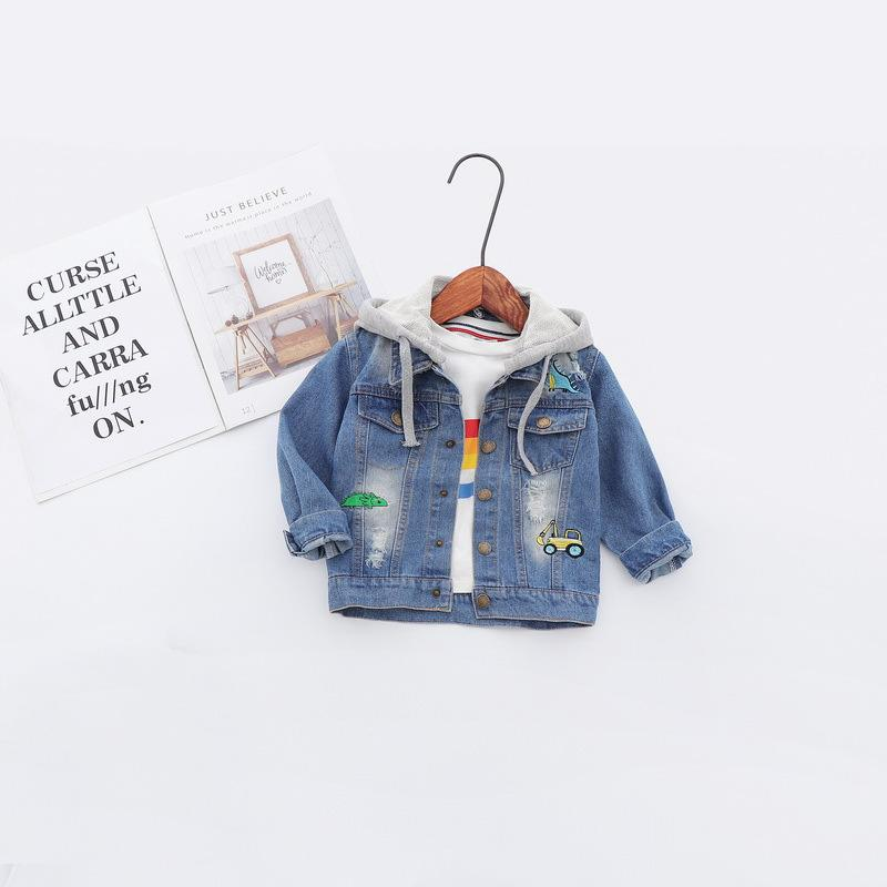 d196876f9 2019 Spring Baby Infants Kids Children Boys Male Hooded Hole Washed ...