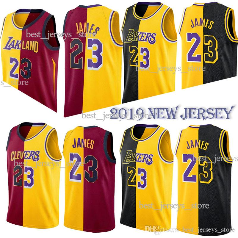 reputable site 9bf20 e955f Yin Yang Jersey 23 LeBron James Los Angeles Basketball Jerseys 2019