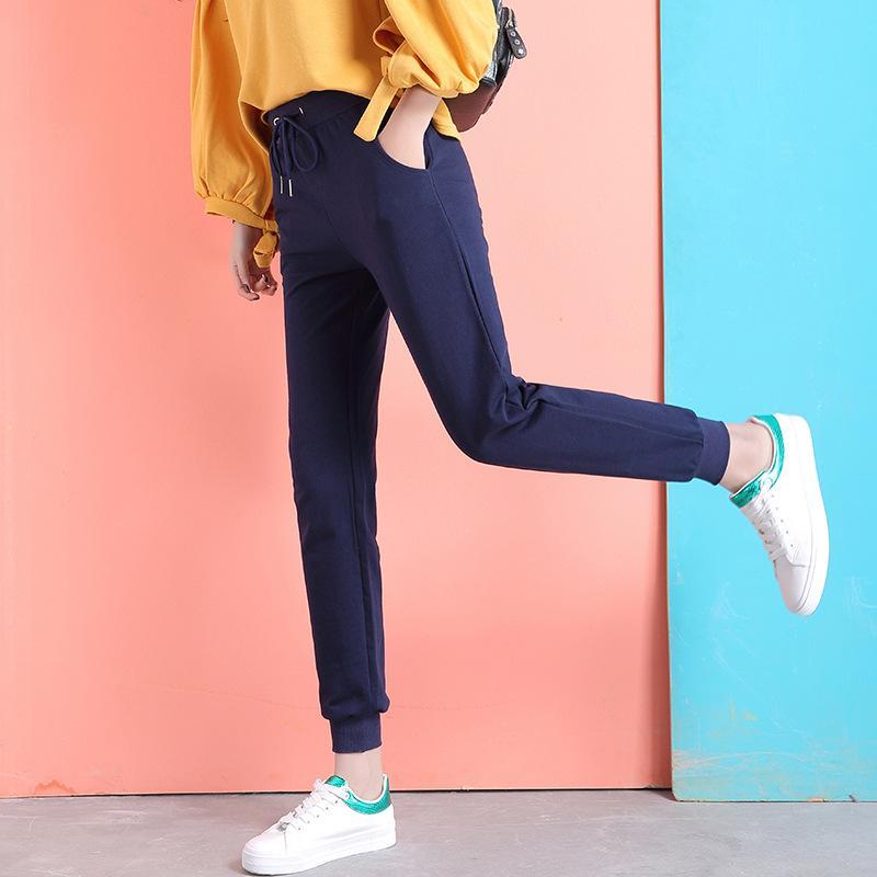 Compre Pantalones Largos De Primavera Pantalones Harem Para Mujer Casual  Para Mujer Pantalones Elásticos Clásicos Para Mujer Pantalones De Chándal  De ... 71dbeac4ff2b