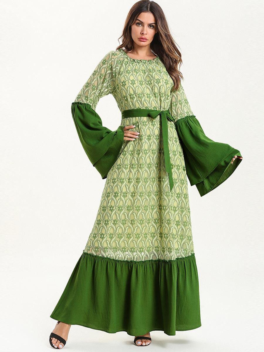 37739431e0 7620 Abaya Muslim Dress Moroccan Kaftan Dubai Evening Prom Muslim Arab Lace  Muslim Party Dresses Online with $35.33/Piece on Donnatang240965's Store ...