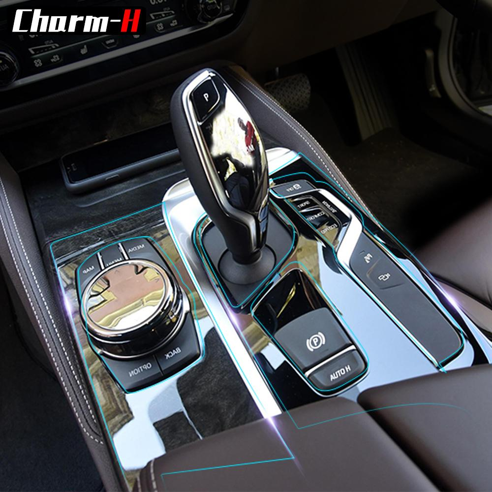 2019 car interior trim dashboard cd panel clear paint tpu - Automotive interior protective film ...
