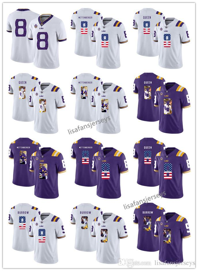 4de749b39 ... purple college football jersey 74478 46442  hot 2018 custom 2019 lsu  tigers jersey 8 zach mettenberger 8 patrick queen 9 joe burrow