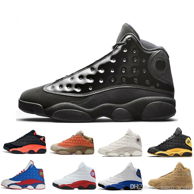 sélection premium b540f ab6a3 2019 jordan air jordans shoes jumpman chaussures de basket-ball 13  casquette et robe noir atmosphère gris rétro il a obtenu le jeu Bred  Phantom 13s ...