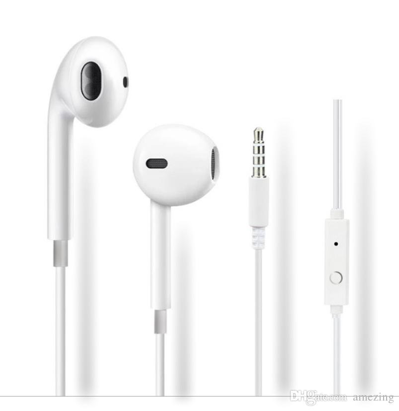 e95e4fb7c1c Universal In Ear Earphone Earset Headphone Earbuds With Mic & Volume  Control Earphone Handsfree For Iphone5 6 Samsung S6 S7 S8 Android Phone  Cell Phone ...