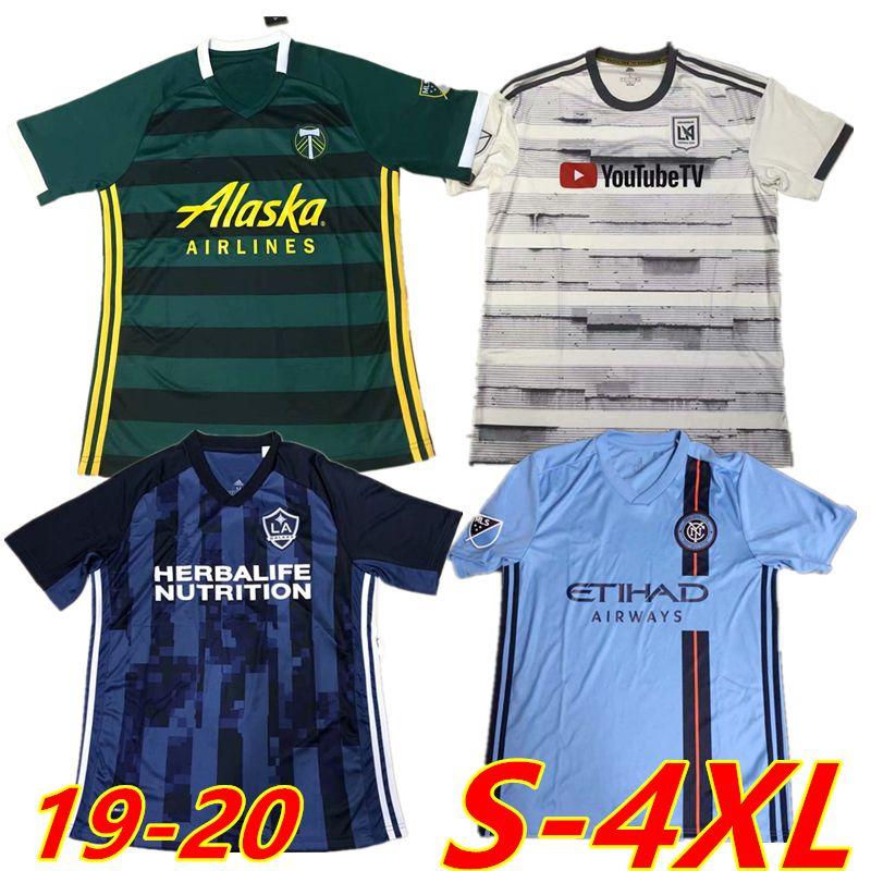timeless design ab831 318ac New York City LAFC 2019 2020 soccer jerseys MLS FOOTBALL SHIRTS Portland  Timbers Los Angeles Galaxy LA FC 4XL 2XL 3XL XXXL XXXXL