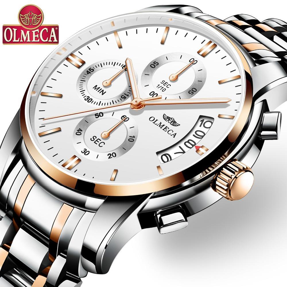 5b2fb6c0de26 Compre Relogio Masculino Saat OLMECA Hombres Relojes De Primeras Marcas De  Lujo Moda Negocio Negocio Reloj De Cuarzo Hombres Deporte Metal Relojes De  ...