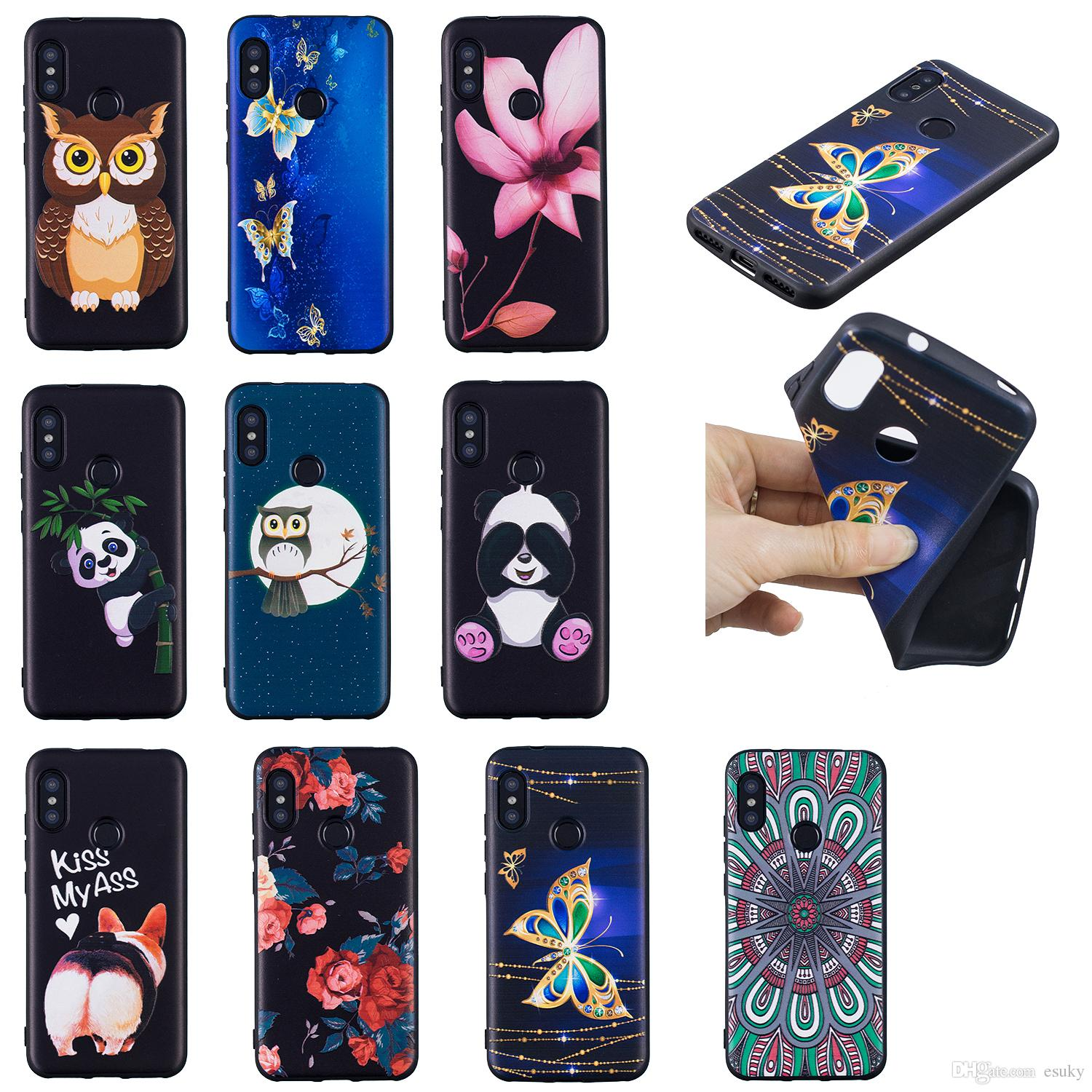 Soft TPU Back Phone Case For LG K10 2017 Slim Fit Flower butterfly owl panda Case for LG K8 2017 Cover